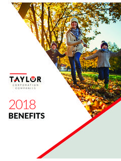 BENEFITS - taylorcorp.com