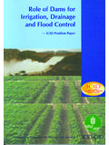 Role of Dams for Irrigation, Drainage and Flood Control