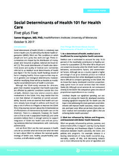 Social Determinants of Health 11 for Health Care
