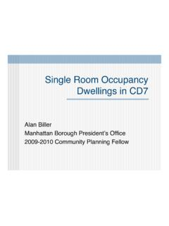 Single Room Occupancy Dwellings in CD7 - New York City