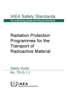 Radioactive Material Transport of Radiation …