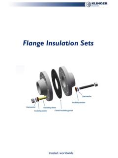 Flange Insulation Sets - KLINGER