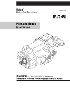 Parts and Repair Information - Eaton
