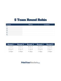 Elimination bracket team single 7 Consolation Bracket
