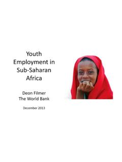 Youth Employment in Africa: Overview - World Bank