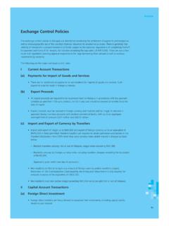 Annex: Exchange Control Policies - Central Bank of Malaysia