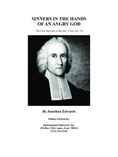 Sinners in the Hands of an Angry God - Jonathan Edwards …