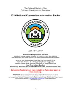2019 National Convention Information Packet - nscar.org