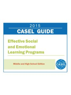 2015 CASEL Guide: Effective Social and Emotional …