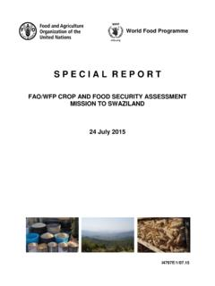 FAO/WFP Crop and Food Security Assessment Mission to ...