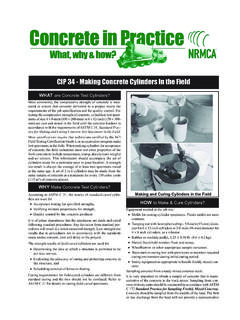CIP 34 - Making Concrete Cylinders In the Field