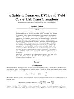 A Guide to Duration, DV01, and Yield Curve Risk ...