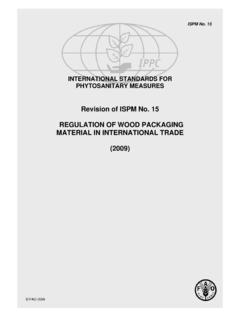 Revision of ISPM No. 15 REGULATION OF WOOD …