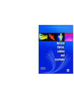 Handbook – Optical fibres, cables and systems