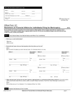 Official Form 107 - United States Courts