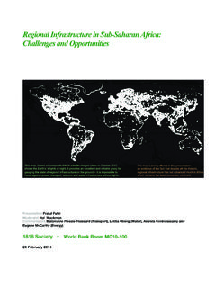 Regional Infrastructure in Sub -Saharan Africa: Challenges ...