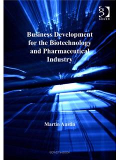 Business Development for the Biotechnology and ...