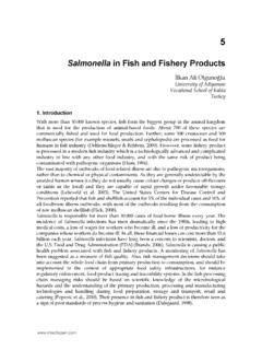 Salmonella in Fish and Fishery Products - InTech