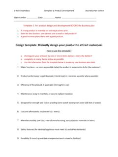 Design template: Robustly design your product to attract ...