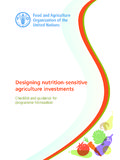 Designing nutrition-sensitive agriculture investments