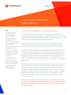 Informatica Enterprise Data Catalog