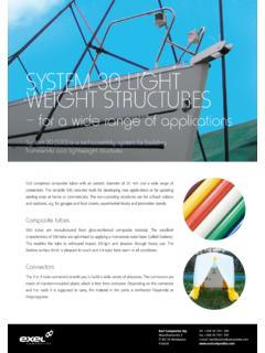 SYSTEM 30 LIGHT WEIGHT STRUCTURES - Exel Composites