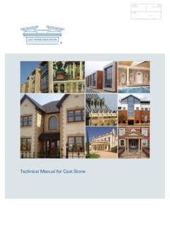 Technical Manual for Cast Stone