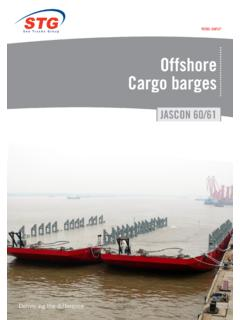 Offshore Cargo barges - Sea Trucks Group STG
