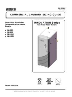 COMMERCIAL LAUNDRY SIZING GUIDE Natural Gas …