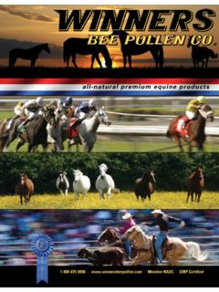 all-natural premium equine products - Winners Bee Pollen