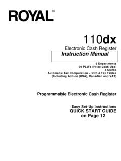 Electronic Cash Register Instruction Manual - Royal Supplies