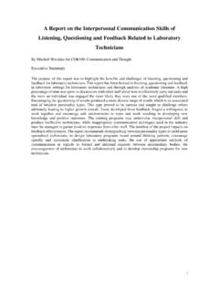 A Report on the Interpersonal Communication Skills of ...
