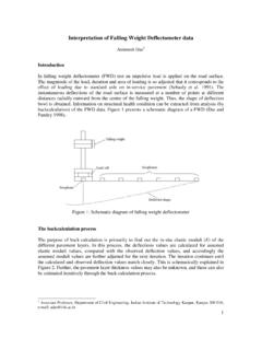 Interpretation of Falling Weight Deflectometer data