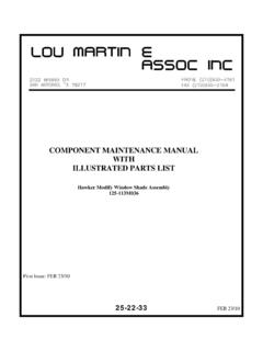 COMPONENT MAINTENANCE MANUAL WITH …