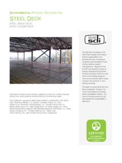 ENVIRONMENTAL PRODUCT D STEEL DECK - Cold-formed …
