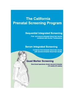 The California Prenatal Screening Program - CDPH Home