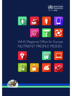WHO Regional Office for Europe NUTRIENT …
