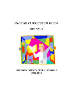 ENGLISH CURRICULUM GUIDE GRADE 10 - lcps.org