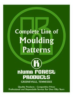 Complete Line of Moulding - Lumber
