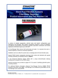 Diesel Fuel Filtration Systems Filter/Water Separator ...