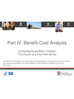 Part IV: Benefit-Cost Analysis
