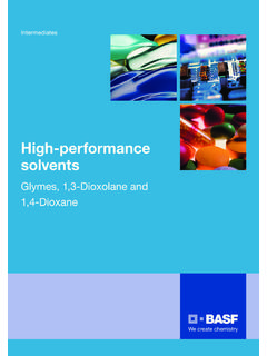 High-performance solvents - BASF Intermediates