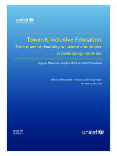 Towards Inclusive Education - UNICEF-IRC