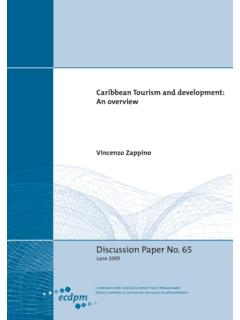Caribbean Tourism and development: An overview