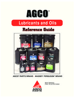 Lubricants and Oils Reference Guide Ref ere nce G …