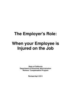 The Employer's Role: When your Employee is …