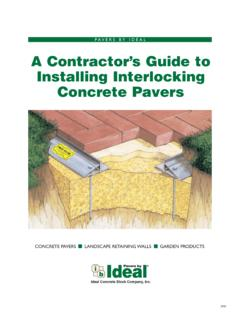 PAVERS BY IDEAL A Contractor's Guide to Installing ...