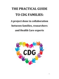 THE PRACTICAL GUIDE TO CDG FAMILIES