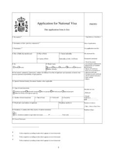 Application for National Visa - exteriores.gob.es