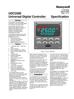Universal Digital Controller Specification - Honeywell